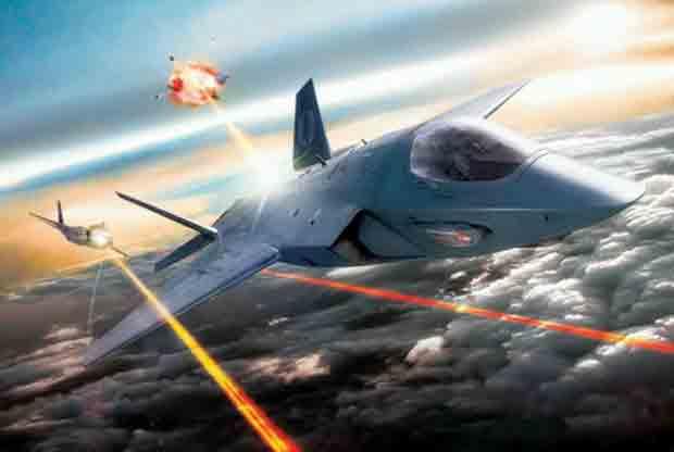 самолёт, истребитель, боевой лазер