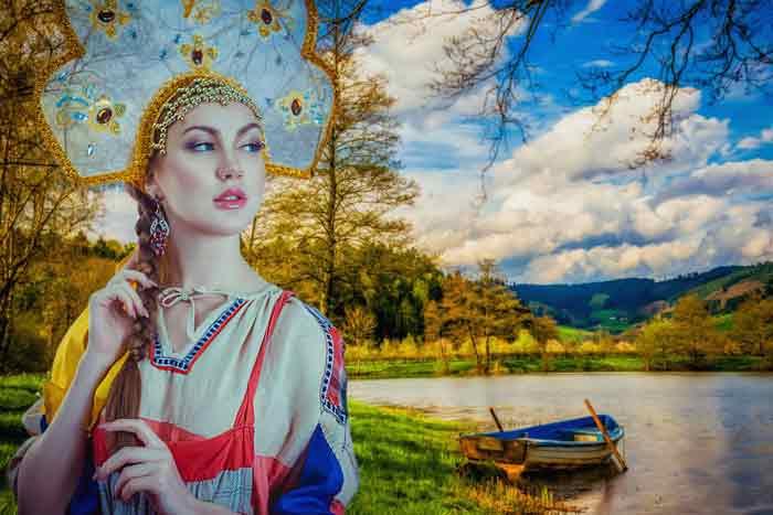 россия, девушка, природа